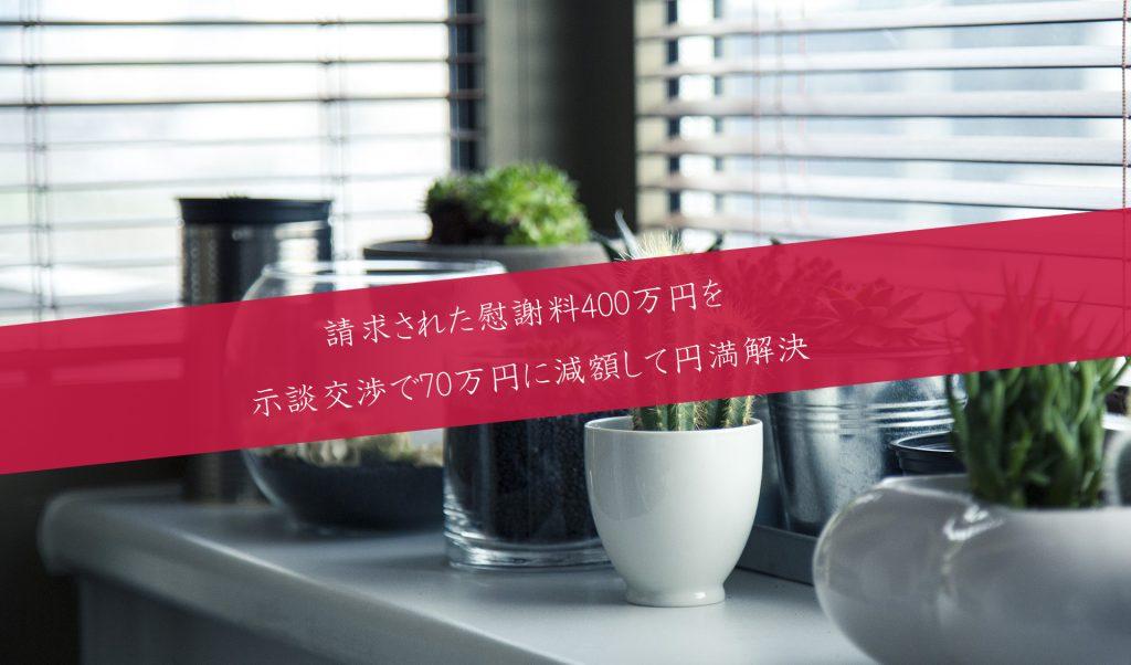 解決事例:示談交渉で330万円の慰謝料減額に成功