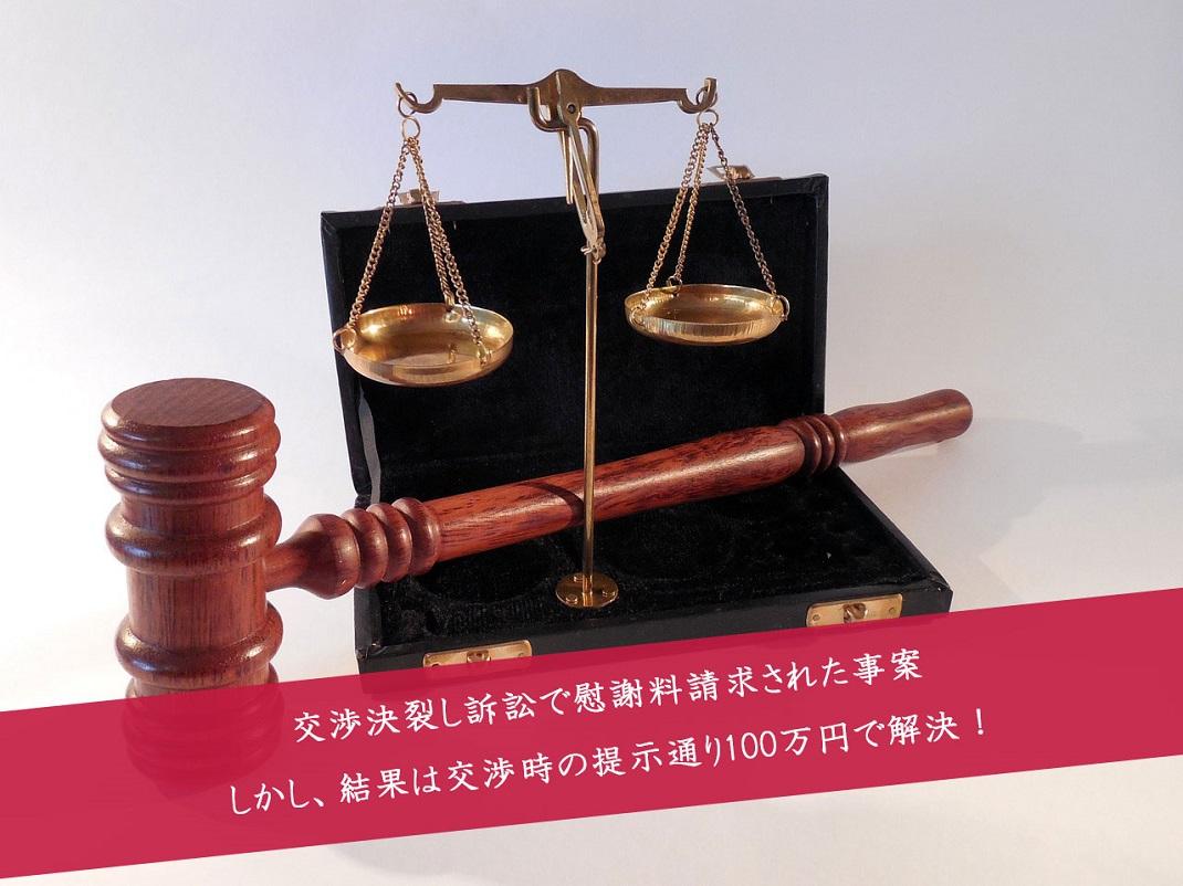 解決事例:訴訟提起されたが和解で解決した事例 不貞裁判の和解金額は?